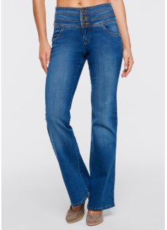 "Stretchjeans ""Platt mage-bootcut"", John Baner JEANSWEAR, blue stone used"