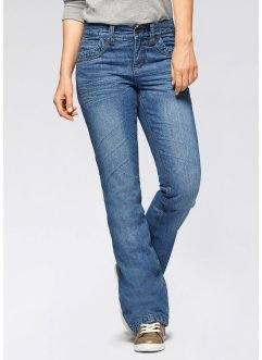Bootcut-Thermo-Jeans, John Baner JEANSWEAR, blau