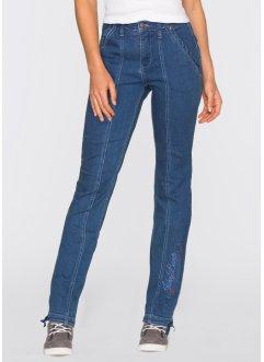 Stretch-Jeans mit Stickerei, STRAIGHT, John Baner JEANSWEAR, blau