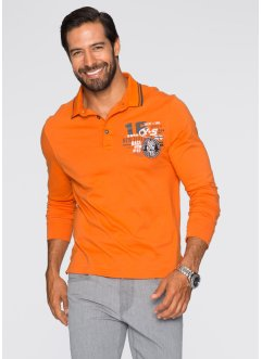 Polo manches longues Regular Fit, bpc selection, orange