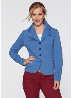 Sweatblazer, bpc bonprix collection, himmelblau