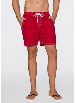 Short long de plage, bpc bonprix collection, rouge