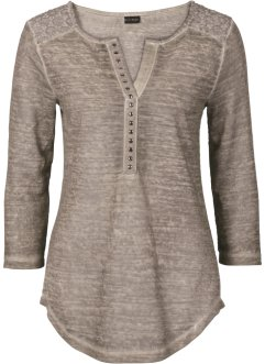 Shirt im Used-Look, BODYFLIRT, taupe