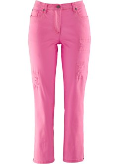 7/8 Stretch-Hose, destroyed, bpc bonprix collection, flamingopink