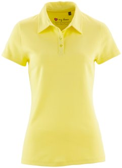 Basic Baumwollshirt Rib-Jersey, bpc bonprix collection, helllimone