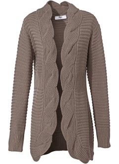 Longstrickjacke, bpc selection, taupe