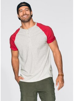 Henley-Shirt Regular Fit, bpc bonprix collection, natur meliert