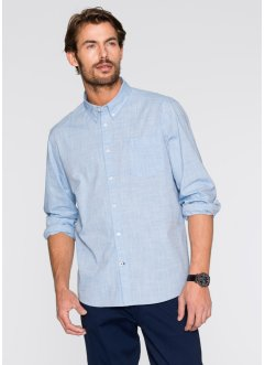 Langarm-Hemd Regular Fit, bpc bonprix collection, hellblau