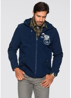 Veste softshell Regular Fit, bpc selection, bleu foncé