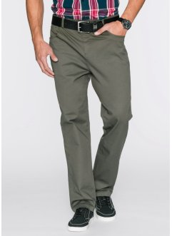Stretch-Hose Classic Fit Straight, bpc bonprix collection, dunkeloliv