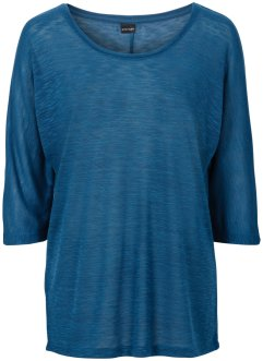Shirt in transparenter Strickoptik, BODYFLIRT, blaupetrol