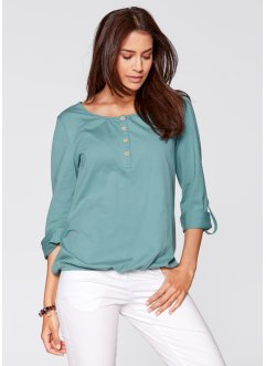Shirt- Tunika, Langarm, bpc bonprix collection, mineralblau