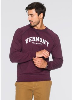 Sweatshirt Regular Fit, bpc bonprix collection, bordeaux meliert