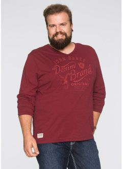 Langarmshirt Regular Fit, John Baner JEANSWEAR, bordeaux