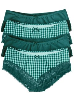 Panty (4er-Pack), bpc bonprix collection, pastellmint/petrol