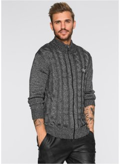 Strickjacke Slim Fit, RAINBOW, schwarz