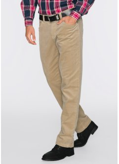 Thermo-Stretchcordhose Regular Fit Straight, bpc bonprix collection, beige