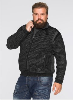 Strickjacke Regular Fit, RAINBOW, schwarz/rauchgrau