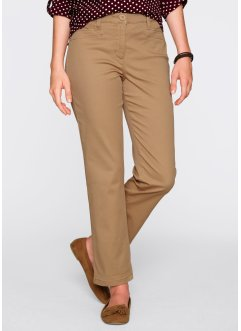 Figurformende knöchellange Stretch-Hose, bpc bonprix collection, eiskaffee