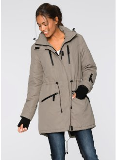 Funktions-Outdoorlangjacke, bpc bonprix collection, taupe