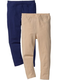 Jeggings (2er-Pack), bpc bonprix collection, mitternachtsblau+sand