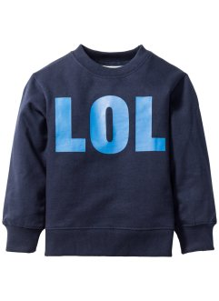 Bedrucktes Sweatshirt, bpc bonprix collection, dunkelblau/azurblau LOL bedruckt
