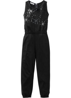 Jumpsuit mit Paillettenapplikation, bpc bonprix collection, schwarz