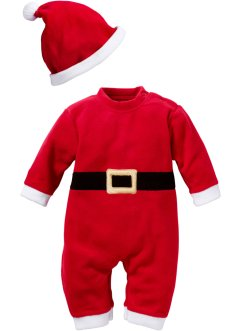Baby Overall + Mütze (2-tlg. Set) Weihnachten, bpc bonprix collection, rot