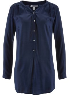 Leichte Flanell-Bluse, bpc bonprix collection, dunkelblau