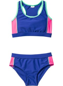 Bustier Bikini Mädchen (2-tlg. Set), bpc bonprix collection, blau/rosa