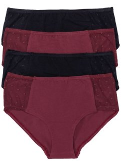 Panty (4er-Pack), bpc selection, bordeaux/schwarz