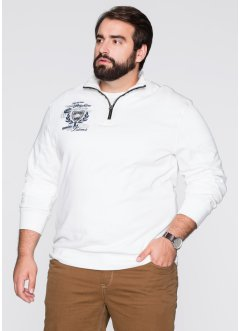 Troyer-Sweatshirt Regular Fit, bpc selection, weiß