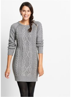 Strickkleid, bpc bonprix collection, grau meliert