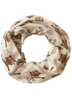 "Loop-Schal ""Eule"", bpc bonprix collection, creme"
