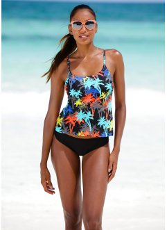 Tankini, bpc bonprix collection, schwarz/türkis
