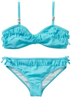 Bikini Mädchen (2-tlg. Set), bpc bonprix collection, türkis