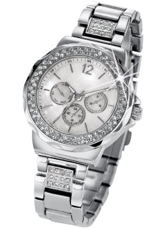 "Armbanduhr ""Tiara"" in Chrono-Optik, bpc bonprix collection, silber"