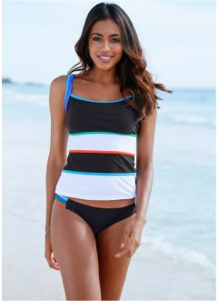 Tankini-Oberteil, bpc bonprix collection, schwarz/weiß