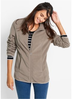 Fleecejacke, bpc bonprix collection, taupe