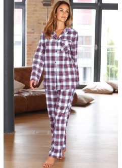 Flanell Pyjama, bpc bonprix collection, kariert