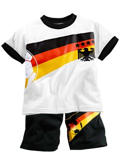 T-Shirt + Bermuda (2-tlg.Set), bpc bonprix collection, weiß/Deutschland