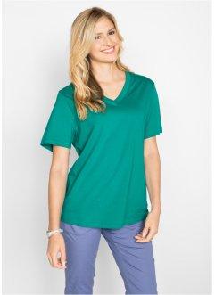 Longshirt mit V-Ausschnitt (5er Pack), Kurzarm, bpc bonprix collection