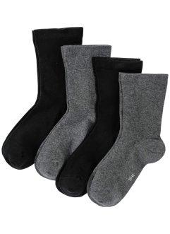 Socken mit druckfreiem Bündchen (4er-Pack), bpc bonprix collection