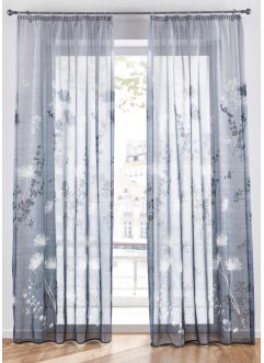 Transparente Gardine mit floralem Druck (1er Pack), bpc living bonprix collection