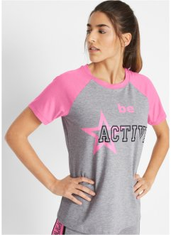 Modisches Sport-Shirt mit Druck, kurzarm, bpc bonprix collection