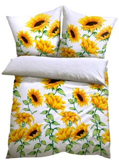 Bettwäsche mit Sonnenblumen, bpc living bonprix collection