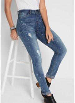 Soft-Stretch-Jeans, SLIM FIT, bedruckt, John Baner JEANSWEAR