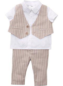 Baby Hemd + Weste + Hose (3-tlg. Set), bpc bonprix collection