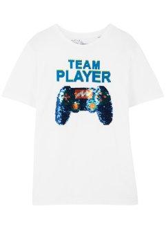 T-Shirt mit Wendepailletten, bpc bonprix collection