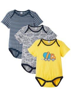 Baby Kurzarmbody (3er-Pack) Bio-Baumwolle, bpc bonprix collection